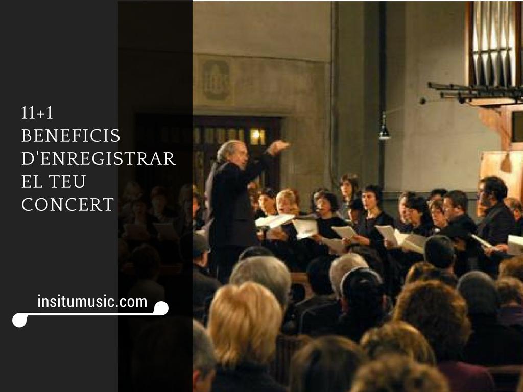 beneficis enregistrar concert - InSitu